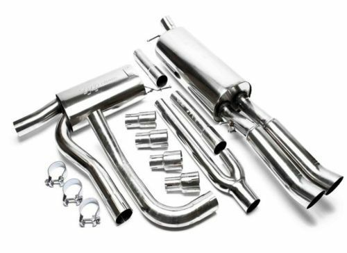 Ta Technix Steel Sport Exhaust Muffler System 2 X 76mm For Audi A4