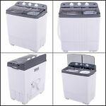 Portable Compact Twin Washing Machine Spin Dry Cycle 16lb For Camping Time Saver