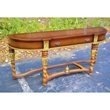 Carved and gilded walnut Biedermeier Style Console