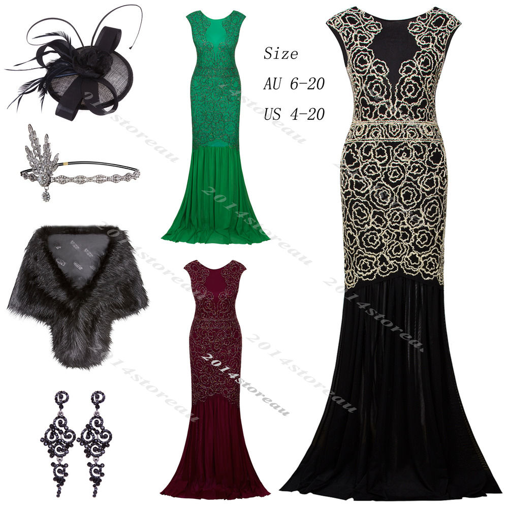 8da3fc66074 Details about 1920s Flapper Dress Vintage Great Gatsby Mix-pattern Party  Fancy Outfit Costume
