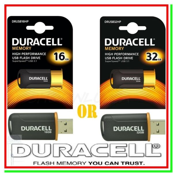 Pen drive Flash drive USB 3.1 16 o 32 gb DURACELL Chiavetta SuperSpeed 35MB/s