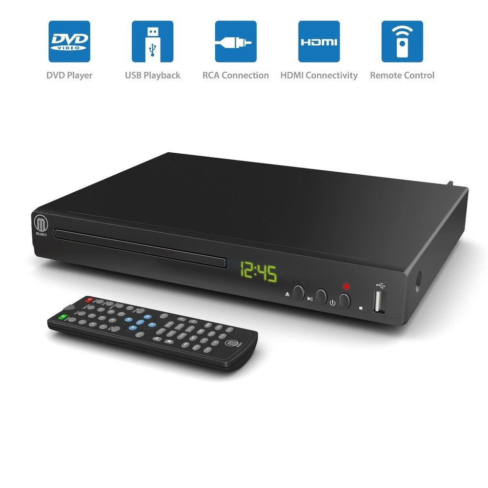 compact dvd player hdmi upscaling scart usb multi region ebay. Black Bedroom Furniture Sets. Home Design Ideas