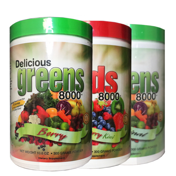 Delicious Greens / Reds  8000 Green Food Supplement - 100% Natural, 30 Servings