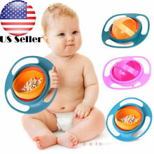 US Baby Bowl Children Tableware gyro Bowl  Dishes plate toddler infant kids