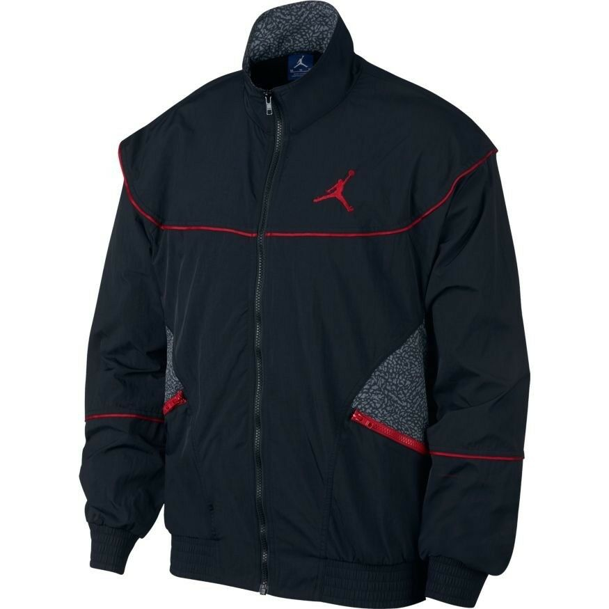 79914ec8baa3f0 Details about NIKE AIR JORDAN 3 AJ3 VAULT WOVEN JACKET 897410 010 BLACK  (MEN S LARGE) RETRO