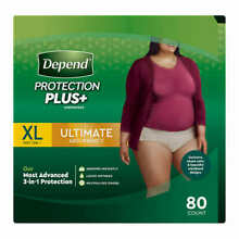 Depend FIT-FLEX Underwear for Women Size: XLarge - 80Ct - Free Shipping! No Tax!