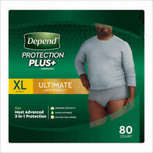 Depend FIT-FLEX Underwear for Men Size: XLarge - 80Ct - Free Shipping! No Tax!