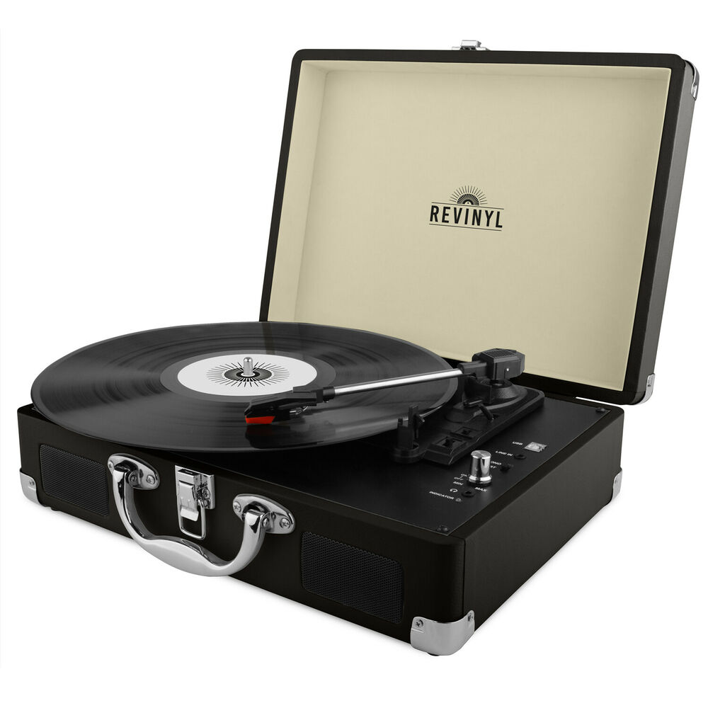 Revinyl Briefcase Record Player Suitcase Vinyl Turntable