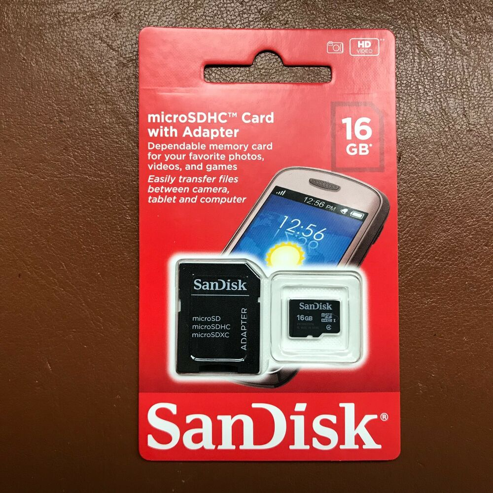 6714cc24ef1 Details about New Sandisk Micro SD 16GB SDHC Memory Card For Mobile Tablet  Camera with adapter