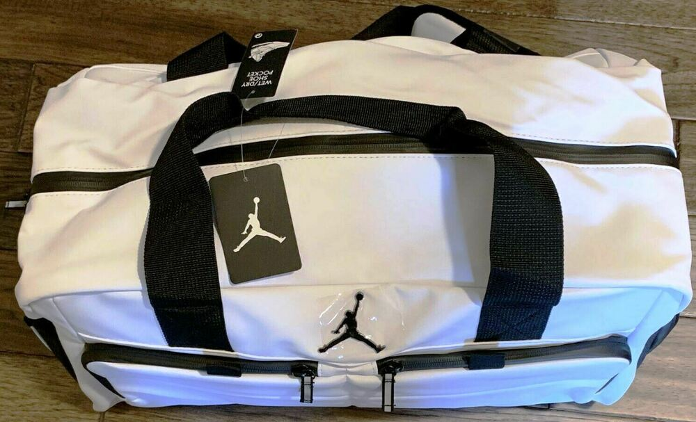 72fb6637ade0 Details about Very Rare Air Jordan All World Duffel Gym Travel Bag Jumpman  23 WHITE Colorway