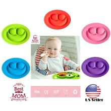 US Happy Mat  silicone plate stable bowl Toddler infant kids baby Dishes