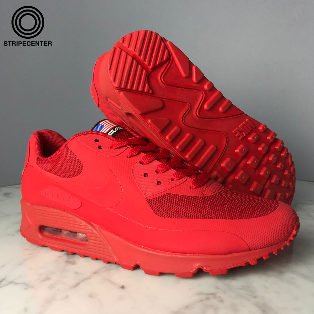 newest 6c1bf 5ee80 Details about NIKE AIR MAX 90 HYPERFUSE 'INDEPENDENCE DAY' - SPORT RED -  613841-660