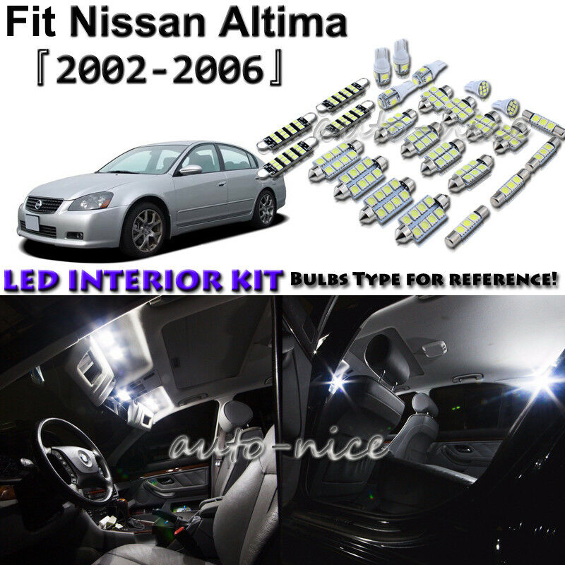 11x White Led Interior Lights Package Kit For 2002 2004 2005 2006