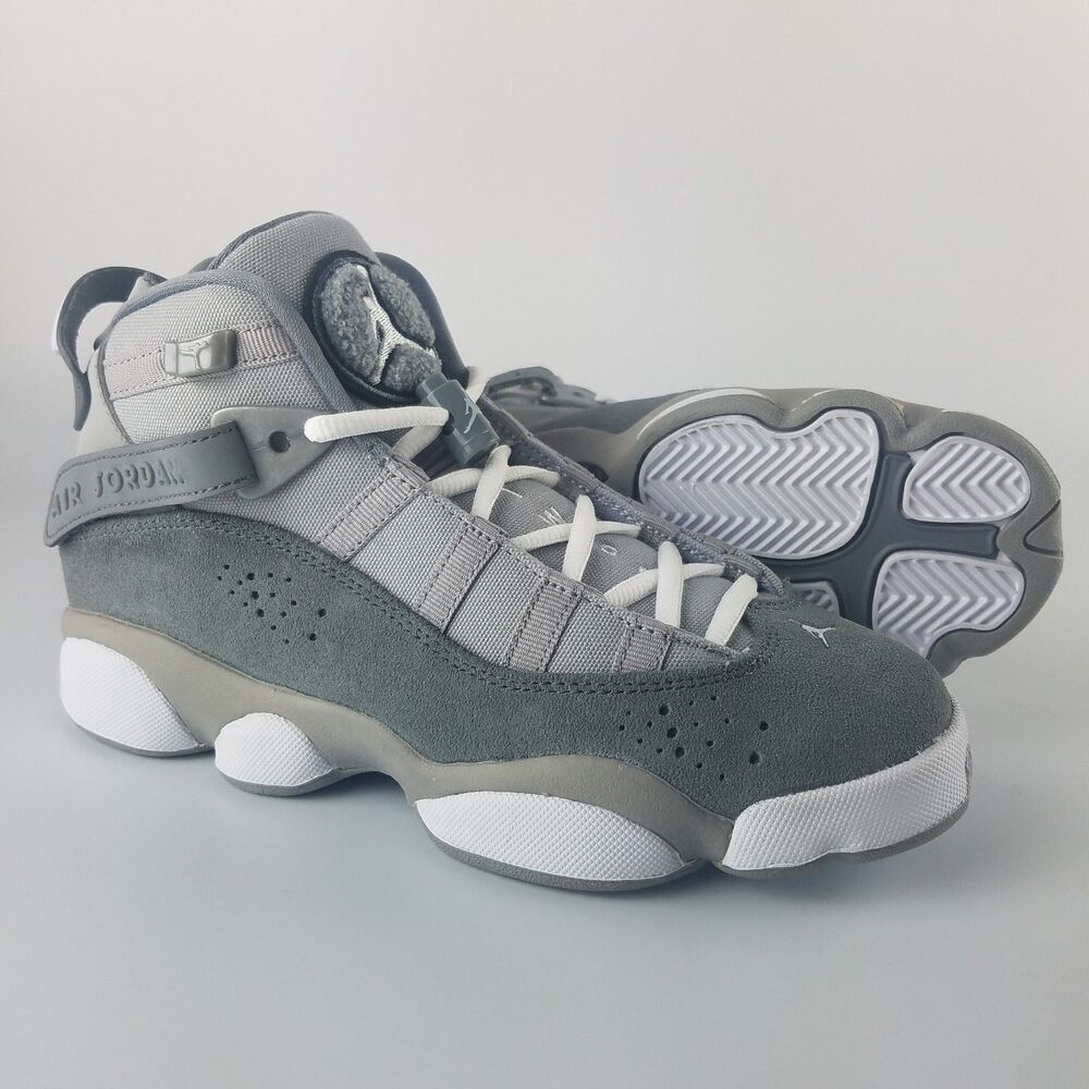 2d1f9fd13d4cb8 Details about Jordan 6 Rings BG Youth Size 4.5Y Matte Silver White Cool Grey  323419-014