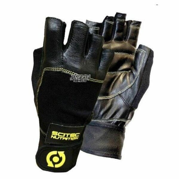 Scitec Nutrition Guanti Palestra Yellow Leather Style