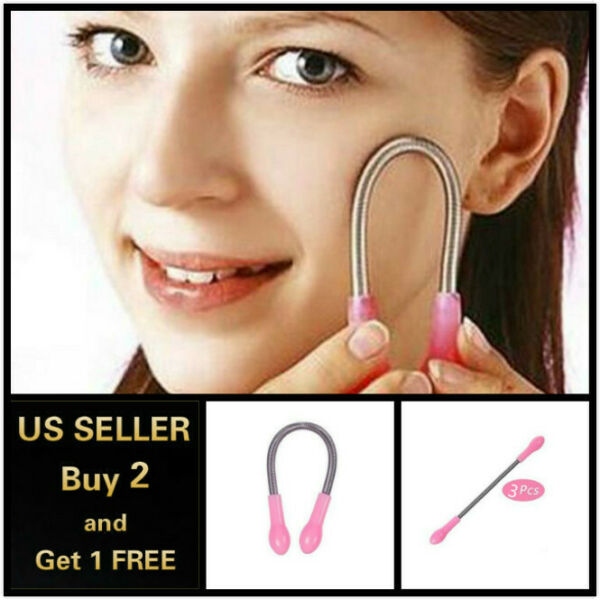 Face Facial Hair Spring Bend Remover Epilator Stick Hair Removal Threading Tool