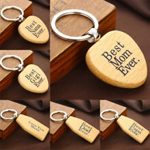 Mothers Fathers Grandmas Gifts Dad Mom Keyrings Charm Wooden Keychain Key Chain