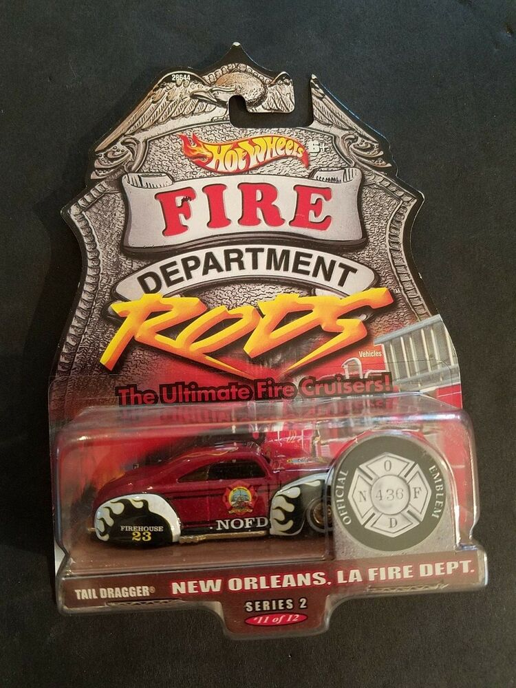 Details about NEW SEALED Tail Dragger New Orleans LA FIRE DEPARTMENT RODS Hot Wheels Series 2