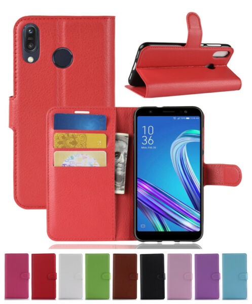 Magnetic PU Leather Wallet Flip Case Cover For ASUS ZenFone Max M1 ZB555KL