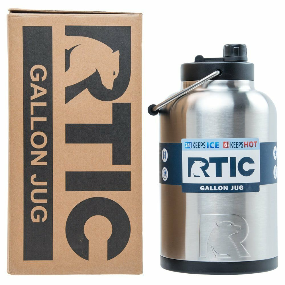 Rtic 174 1 Gallon Water Jug Bottle Insulated Stainless
