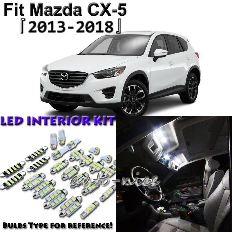 Details About 8 X White Interior Led Light Package Kit For Mazda Cx 5 2017 2016 2018