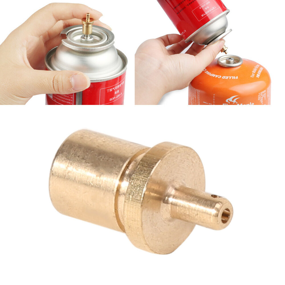 Gas refill adapter outdoor camping stove cylinder filling butane canister SG