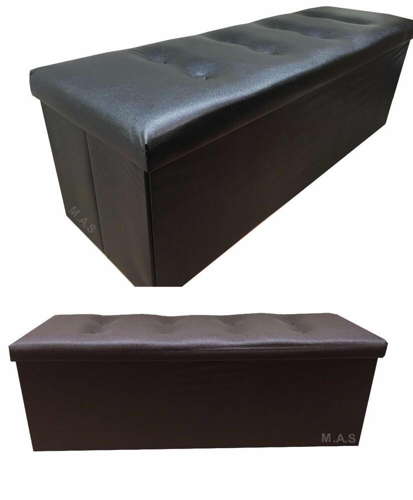 Large 3 Seater Ottoman Storage Toy Box Window Bench Seat