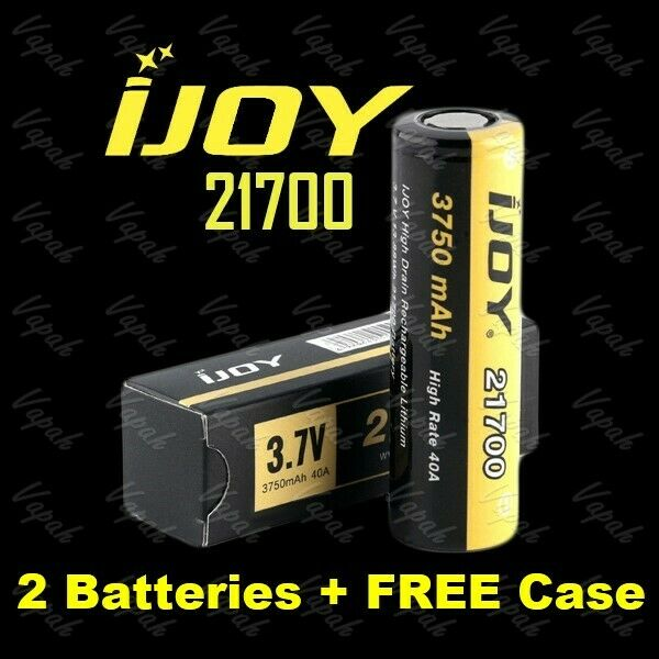 2 MXJO IMR 21700 Li-ion 4000mAh / 30A HIGH DRAIN Flat Top Battery / Tube Cases