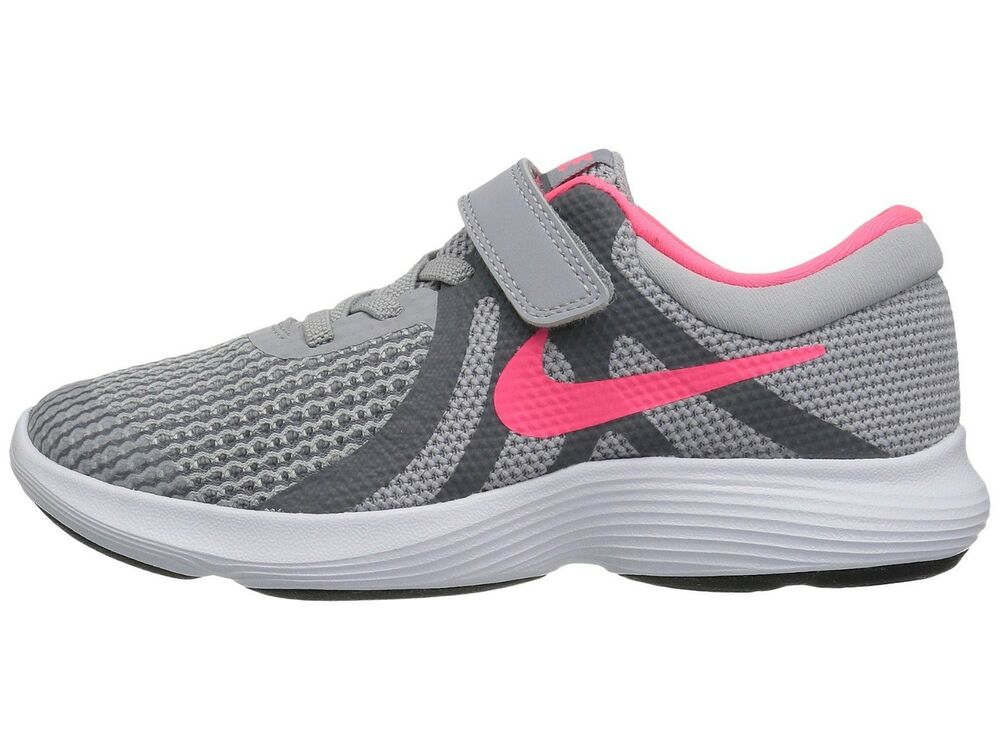 size 40 b7cdb 4f60e Details about Nike Girl s Revolution 4(PSV) Little Kid Running Shoes 943307  003 Wolf Grey Pink