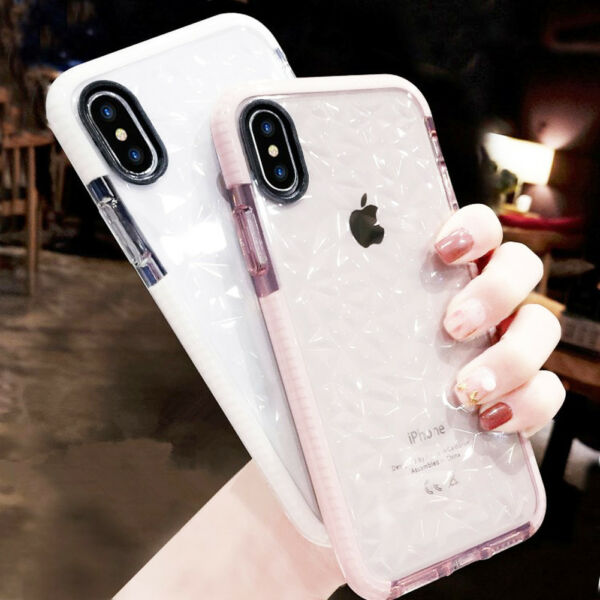 Ultra 360° Shockproof 3D Diamond Bling Soft Case Cover for iPhone X 8 Plus 6S 7+
