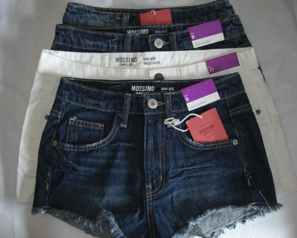 1855c1f307 Mossimo High Waist Distressed Jean Shorts ~High Rise 5 Pocket ~ 3 5 9 17