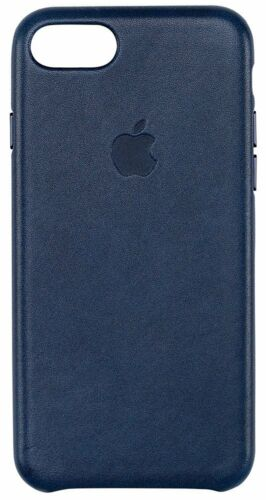 GENUINE Apple Leather Back Cover Case for iPhone 7 - Midnight Blue
