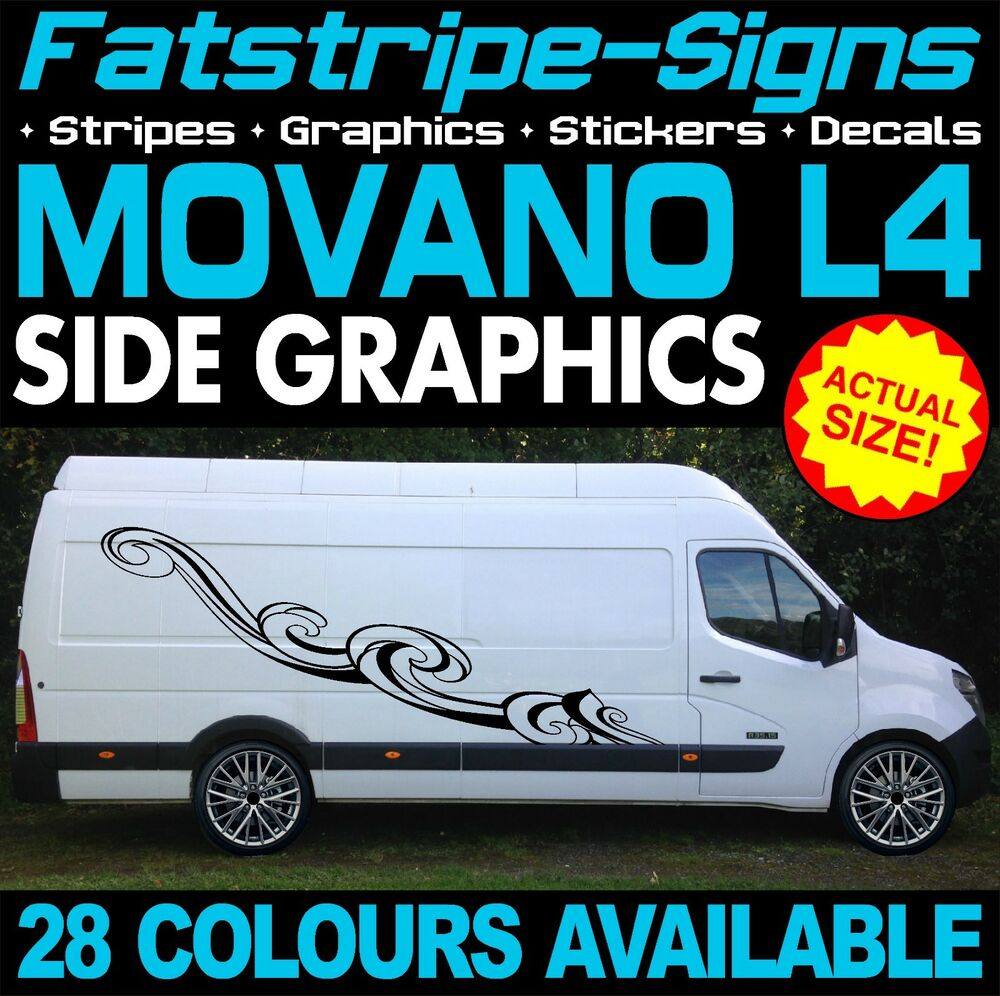 3e1247d06b Details about VAUXHALL MOVANO L4 EXLWB GRAPHICS STICKERS STRIPES DECALS  CAMPER VAN CONVERSION