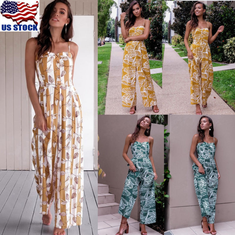 c8b5ef4b6620 Details about Women Lady Clubwear Summer Playsuit Bodycon Party Jumpsuit  Romper Trousers Dress