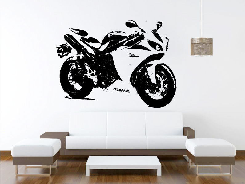 yamaha yzf r1 motorcycle racing bike vinyl home wall decal sticker