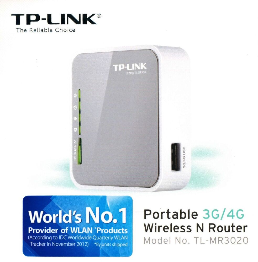Brand New Tp Link Tl Mr3020 Portable 3g 4g Wireless N Router Switch Filter Modules Access Point Ebay