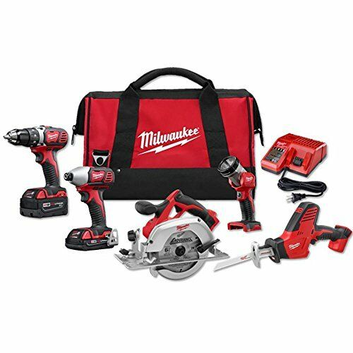 Milwaukee 2695-25CX M18 18-Volt Lithium-Ion Cordless Combo Tool Kit (5-Tool)