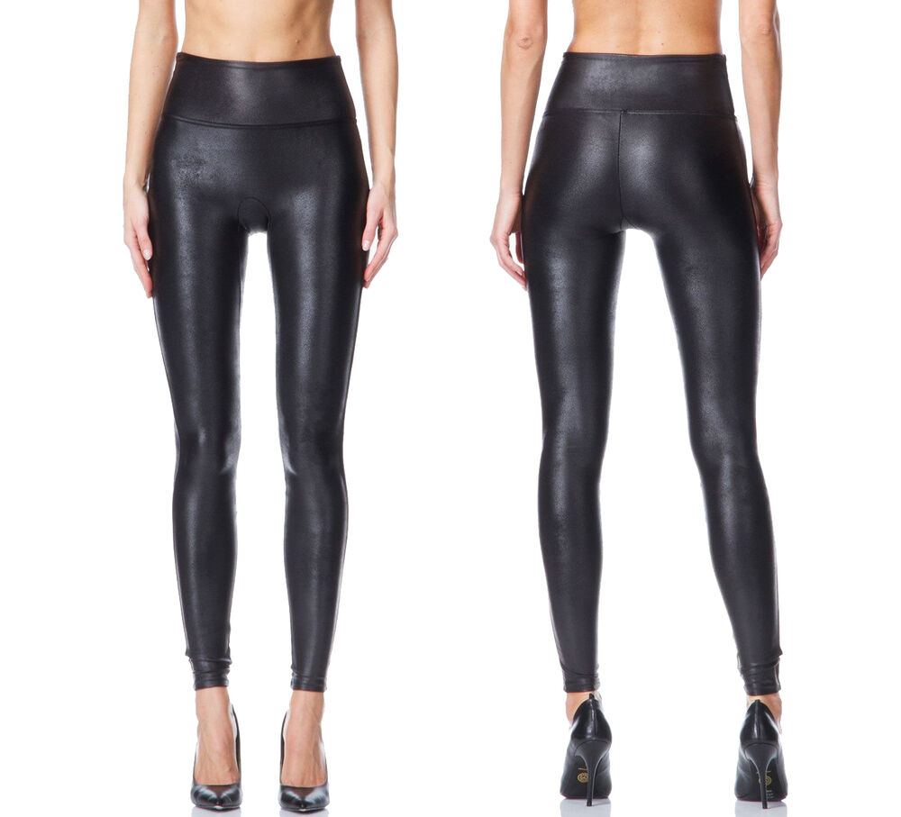 3e16ecb7cbf8b7 Details about NEW SPANX READY TO WOW! 2437 SEXY FAUX LEATHER BLACK LEGGING  PANTS S M L XL