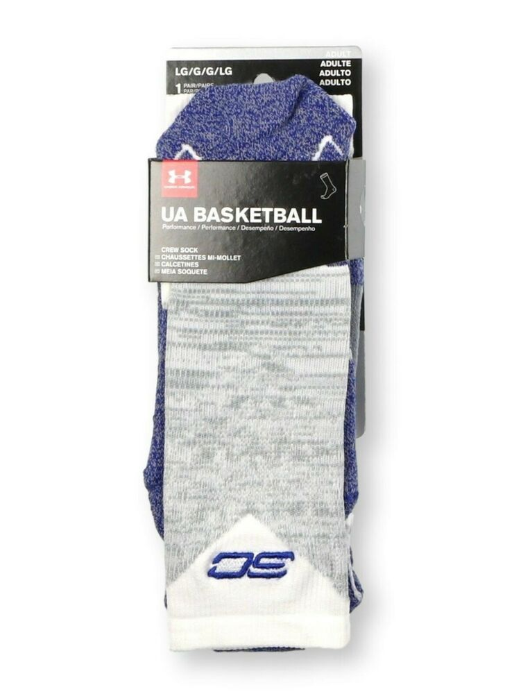 122ed385b232 Details about Under Armour UA SC Basketball Drive Grey Cushioned Men s sz L  Large (9 - 12.5)