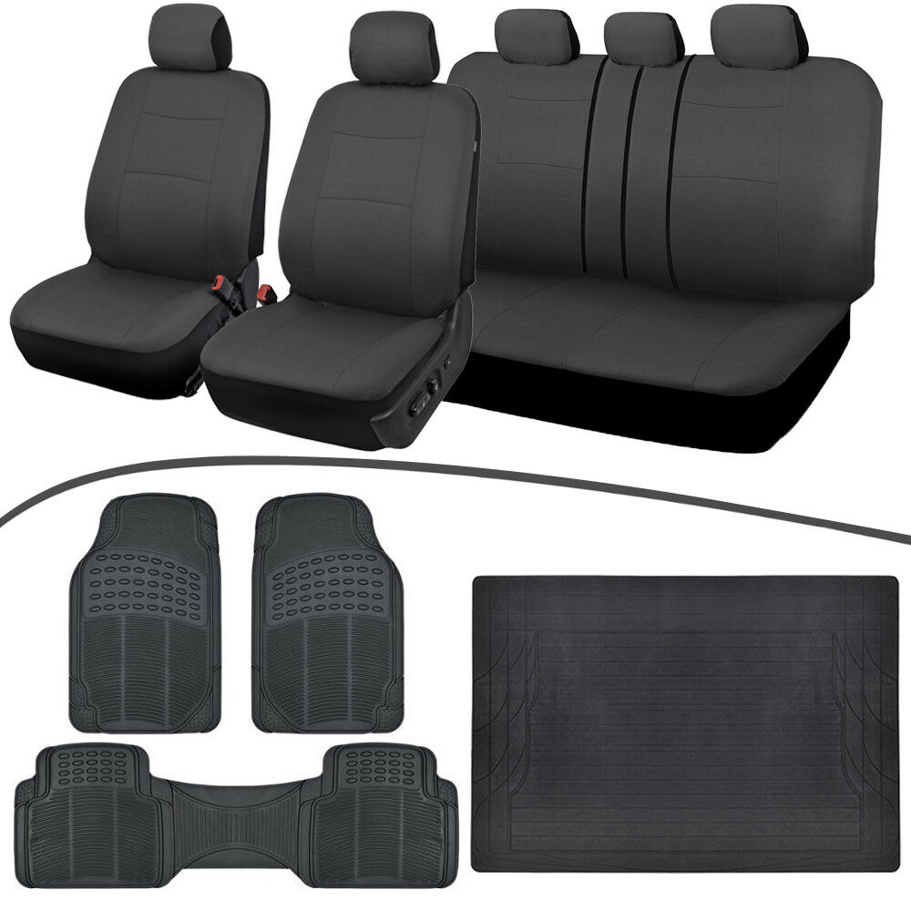 Full Interior Set Car Seat Covers, All Weather Floor Mats
