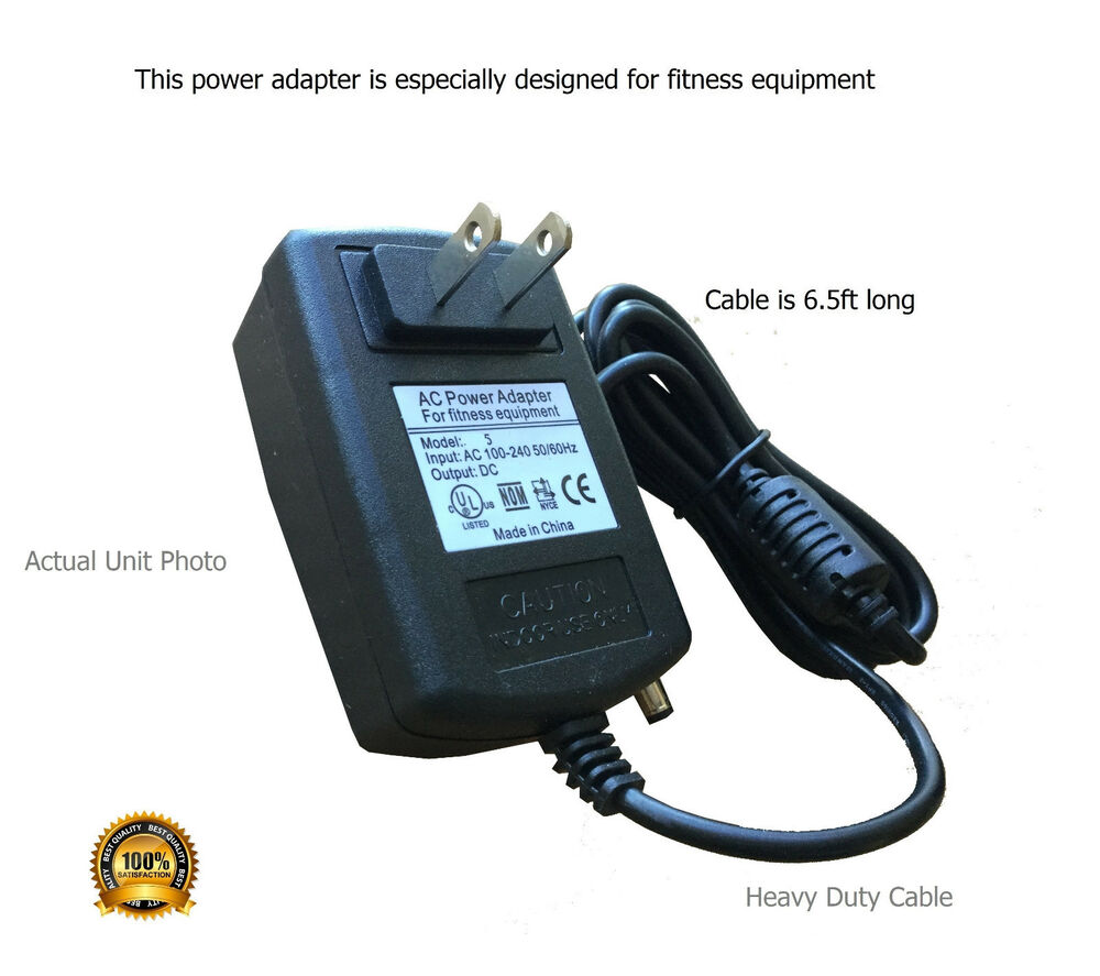 True Z5 Elliptical Power Cord: AC Adapter Power Supply For Proform Elliptical XP110 XP115