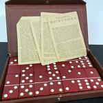 Vintage Cherry Red Bakelite Dominoes Classic Traditional Game