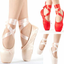 Women Girls Ballet Dance Toe shoes Professional Ladies Satin Pointe Shoes Silk