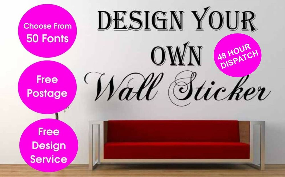 personalised wall sticker custom vinyl decal design your own quote