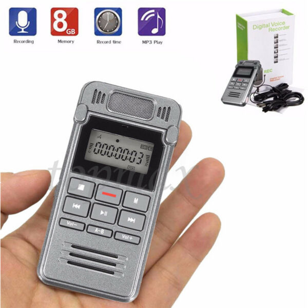 MICRO REGISTRATORE AUDIO VOCALE 8GB USB SPY SPIA AMBIENTALE Voice Recorder MP3