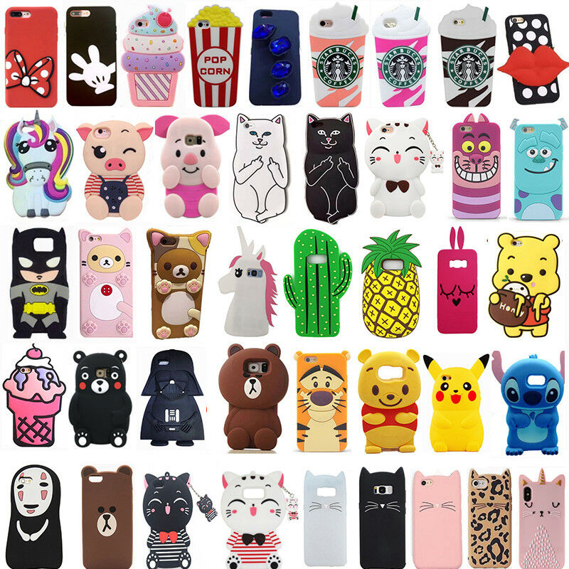 3bf047e93952e0 Details about For Samsung Note 3/4/5/8 Cute Cartoon 3D Hot Soft Silicone  Phone Case Cover Back