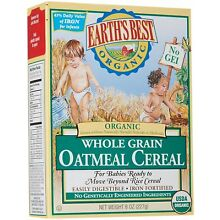 Earth's Best Baby Cereal - Oatmeal - 8 oz