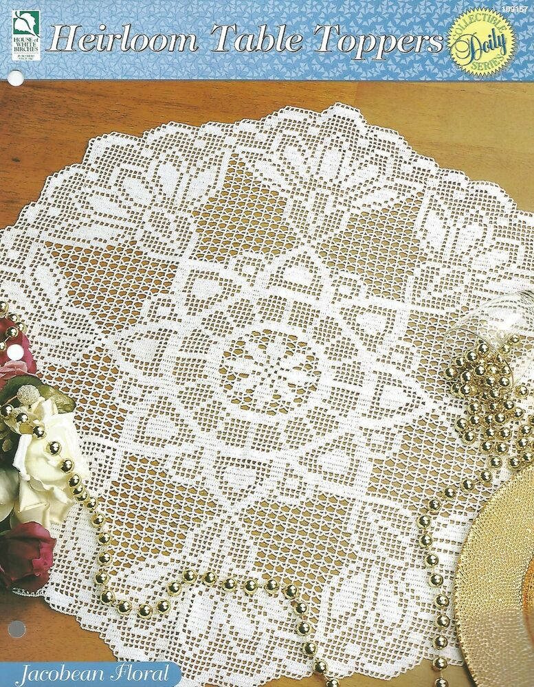 Jacobean Floral Centerpiece Crochet Pattern - Heirloom Table Toppers ...