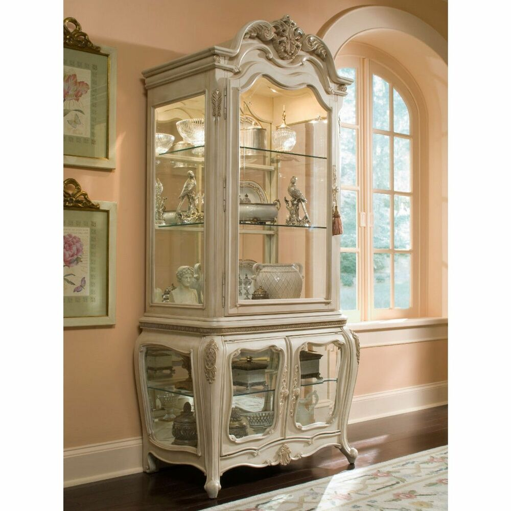 Details About FORMAL CHINA CABINET CURIO ANTIQUE VINTAGE DINING ROOM FURNITURE GLASS LIGHT