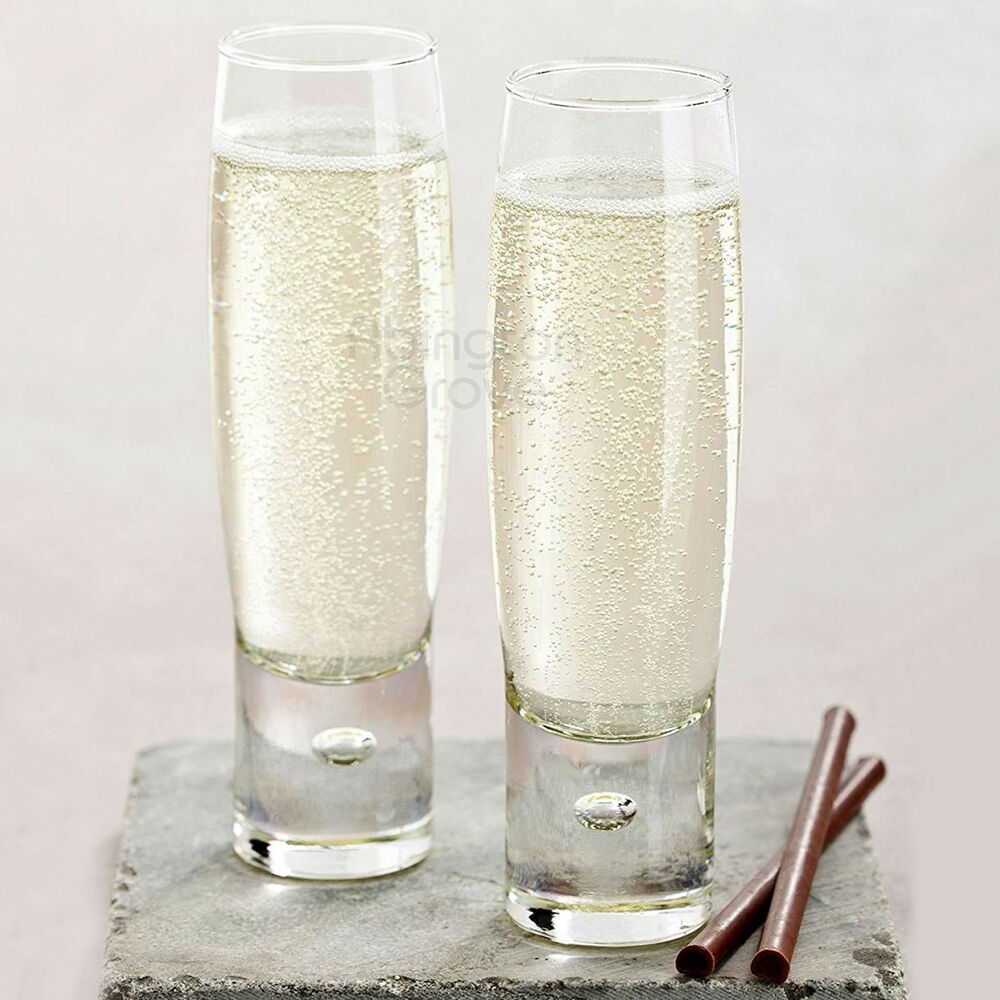 Details About Set Of Ml Modern Stemless Champagne Flutes Prosecco Wine Glasses